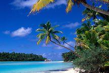 One foot Aitutaki Cook island