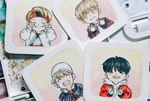 BTS fanart / Just some cute fan art of them.