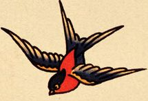 I love swallows! Swallow tattoos.