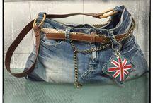 My bags / borse handmade jeans e stoffa
