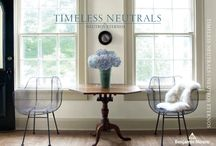 Timeless Neutrals / It's time for timeless. Polished ebony floors. Ironed linen sheets. Rustic farm tables. The Benjamin Moore collection of neutrals never gets weary. They're an atmospheric and inviting choice—subtle, nuanced colors for any time, every space.  / by Benjamin Moore