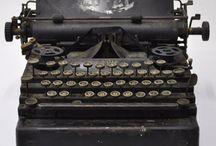 Máquina de escrever e coisas vintage - typewriter