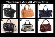 Thursdays Are All Ways Chic August 21,2014 / High End  Designer Fashion Handbags tonight 10 PM at OneCentChic.com