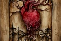 해골, 심장, 뼈 타투