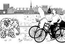 Black & White Bicycle Sketch / Cz-B Rysunki Rowerowe