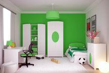 ELISSE VERDE- kolekcja mebli dla dzieci / Zieleń to kolor wiosny, nadziei i radości. Mocny akcent na białych meblach to z jednej strony minimalizm, a z drugiej możliwość wprowadzenia do pokoju Dziecka ulubionego koloru.