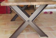 Table pieds metal