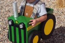 My kid wants to be a tractor for Halloween.....