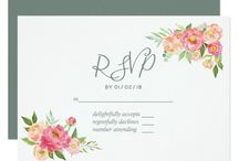 Spring Watercolor Peonies Wedding Suite 2 / Spring Wedding collection.