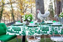 Garden Party and Outdoor celebration Ideas / Garden parties and outdoor celebrations all can use a bit of help with easy DIY ideas and photos to inspire. Enjoy!