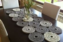 dekoratif kilim ve masa üstü motifler