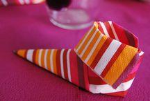 pliages de serviettes de papier / Recevoir avec une touche spéciale!