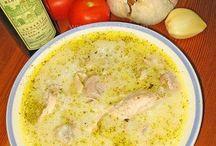 куриный суп по гречески