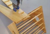 Wood estructures / Nuestras estructuras de madera, inspiradas en la pedagogia waldorf, pikler y montessori.