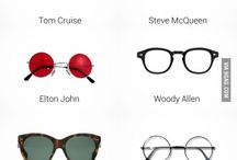 Eyewear merchandise and creativity / Places of sale of sunglasses, ads, posters, shelves, decor for sunglasses and eyewear