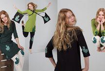 A / Silkscreen printing. The first collection of Kikerigu. Model: Julia Ranta