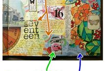 Art Journals, Mixed Media and Collage