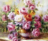 cuadros de flores