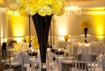 Black and Yellow Wedding / Black and yellow wedding theme inspiration.