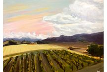 Artsy Stuff / Paintings, art, landscapes, animals, fun painting, painting in the vineyard