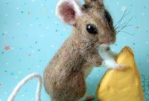 Naaldvilten muis en eekhoorn