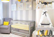 Jak urządzić pokój dla dziecka - szaro-zółty / http://www.szczyptadesignu.pl/2014/08/jak-urzadzic-pokoj-dla-dziecka-szaro.html