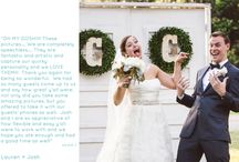 You said it! / we love hearing from happy couples who love their wedding images! check out what some of our clients have to say!