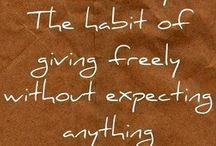 Generosity - a giving heart