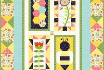 Save the Bees Block of the Month / Join our free block of the month, Save the Bees! Options for applique, hand embroidery, or just piecing. Blog hops and prizes.