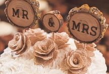 Cake toppers rustic