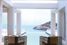 perfect window view to pool+deck opening to the mediterranean