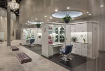 Luxury Salon / Chainmail, silver and sophistication intertwine to create a luxe look at the glamorous new Bella Mia Salon!