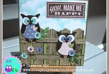 Stampin Up Owls / Card Designs using Stampin Up Owl Punch / by Rachel Wiles