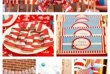 Twins Birthday Thing 1 Thing 2 / This board has everything for twins and the Thing 2 Thing 2 Cat in the Hat birthday party theme. Find out exactly what I did at my party by visiting my blog: http://thekreativekarma.blogspot.ca