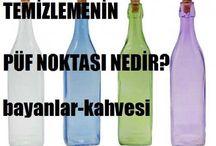 Yağlı şişe temizliği