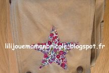 customiser un sac avec du liberty / diy customiser un sac besace kaki avec du liberty
