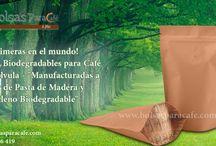 "Las primeras en el mundo! Bolsas Biodegradables para Café con válvula / Las primeras en el mundo! Bolsas Biodegradables para Café con válvula - ""Manufacturadas a partir de Pasta de Madera y Polietileno Biodegradable""  http://www.bolsasparacafe.com/"