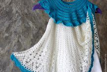 Летние вязаные платья для девочки