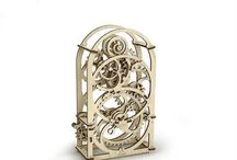 Ugears grandfather clock DIY wooden 3D puzzle design and ideas / DIY grandfather clock is an exquisite mechanical wooden device which can be set for any time ranging from 1 to 20 minutes. Wind up the alarm mechanism and the alarm will go off when time runs out. The Timer has unique roller pendulum and amplitude adjustment system on the back wall.