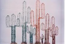 old metal and barbed wire art
