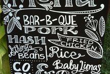Chalkboard / Leuke ideeën voor krijt borden