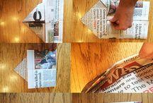 新聞紙で作る