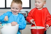 Cooking with kids / Cooking with kids is a messy experience but protect your little ones clothes with Silly Billyz bibs and accessories and have fun getting messy but staying clean.