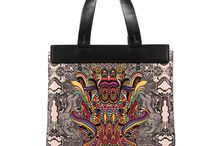 Universal Bag - I Sing In Colours / Women Leather Handbags, Limited Edition Designer Leather Bag COLOURS OF MY LIFE - Limited Edition wearable art signed by Anca Stefanescu.