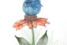 Birds , Butterflies & Nature Embroidery Designs / Birds, butterfly, bugs and nature embroidery designs for home machine embroidery. Flowers, seasons and special effect embroidery designs.