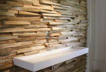 Paredes de madera / Paredes llenas de personalidad revestidas de diferentes tipos de madera.