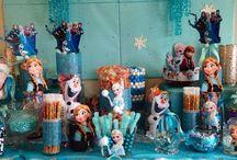 Frozen party candy buffet
