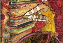 mixed media_Ladies / collage, mixed media, art -journals