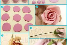 Clay-porcelain and sugar  flowers