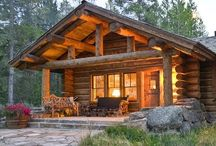 Log Cabins / Give me a tiny log cabin in the middle of nowhere and I'll be happy!!!!
